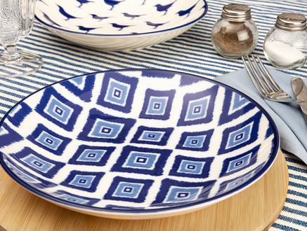 Rêve Bleu Élégant Yemek Tabağı - Mavi - 22 cm