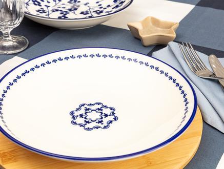 Rêve Bleu Espérer Yemek Tabağı - Mavi - 22 cm