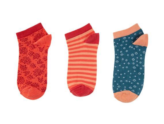 Mabelle Kadın 3'lü Patik Çorap