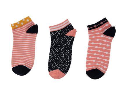 Phillipa Kadın 3'lü Patik Çorap