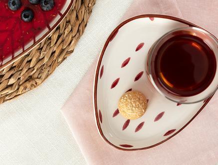 Vie Rouge Graine Çay Tabağı - 15 cm