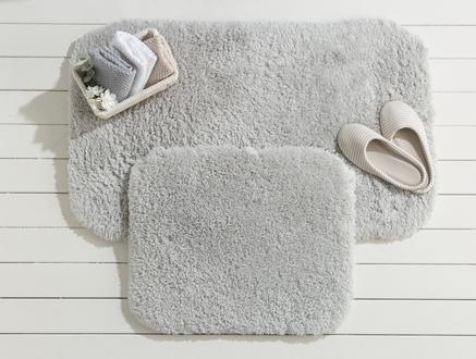 Sheep Banyo Paspası - Gri - 60x100+50x60 cm