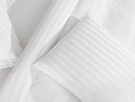 Ribeauville Çift Kişilik Jakarlı Saten Nevresim Takımı - Beyaz