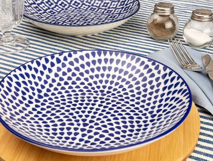 Rêve Bleu Esprit Yemek Tabağı - Mavi - 20,5 cm