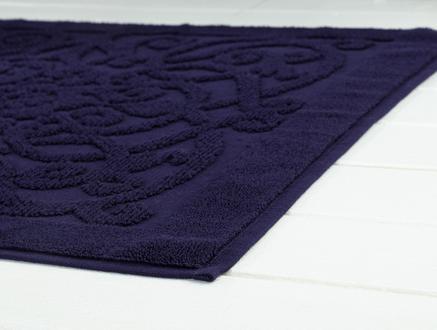 Berthe Ayak Havlusu - Lacivert - 60x90 cm
