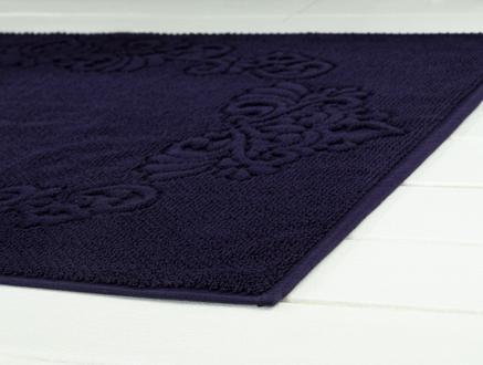 Norice Ayak Havlusu - Lacivert - 60x90 cm