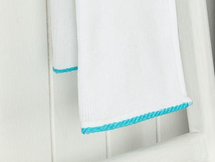 Prudence 2'li El Havlusu - Beyaz / Mint Yeşili - 30x45 cm