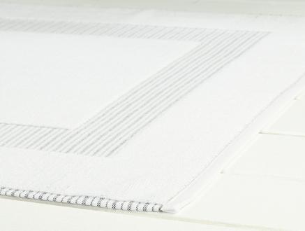 Evelyn Ayak Havlusu -Beyaz/Antrasit - 50x80 cm