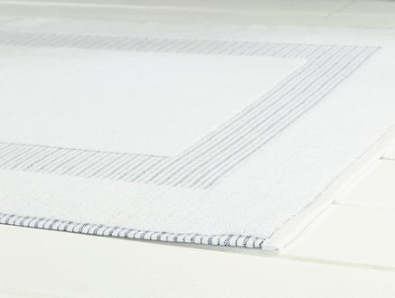 Evelyn Ayak Havlusu - Beyaz/Lacivert - 50x80 cm