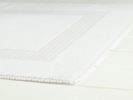 Evelyn Ayak Havlusu -Beyaz/Vizon - 50x80 cm