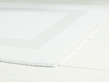 Evelyn Ayak Havlusu - Beyaz / Mint Yeşili - 50x80 cm